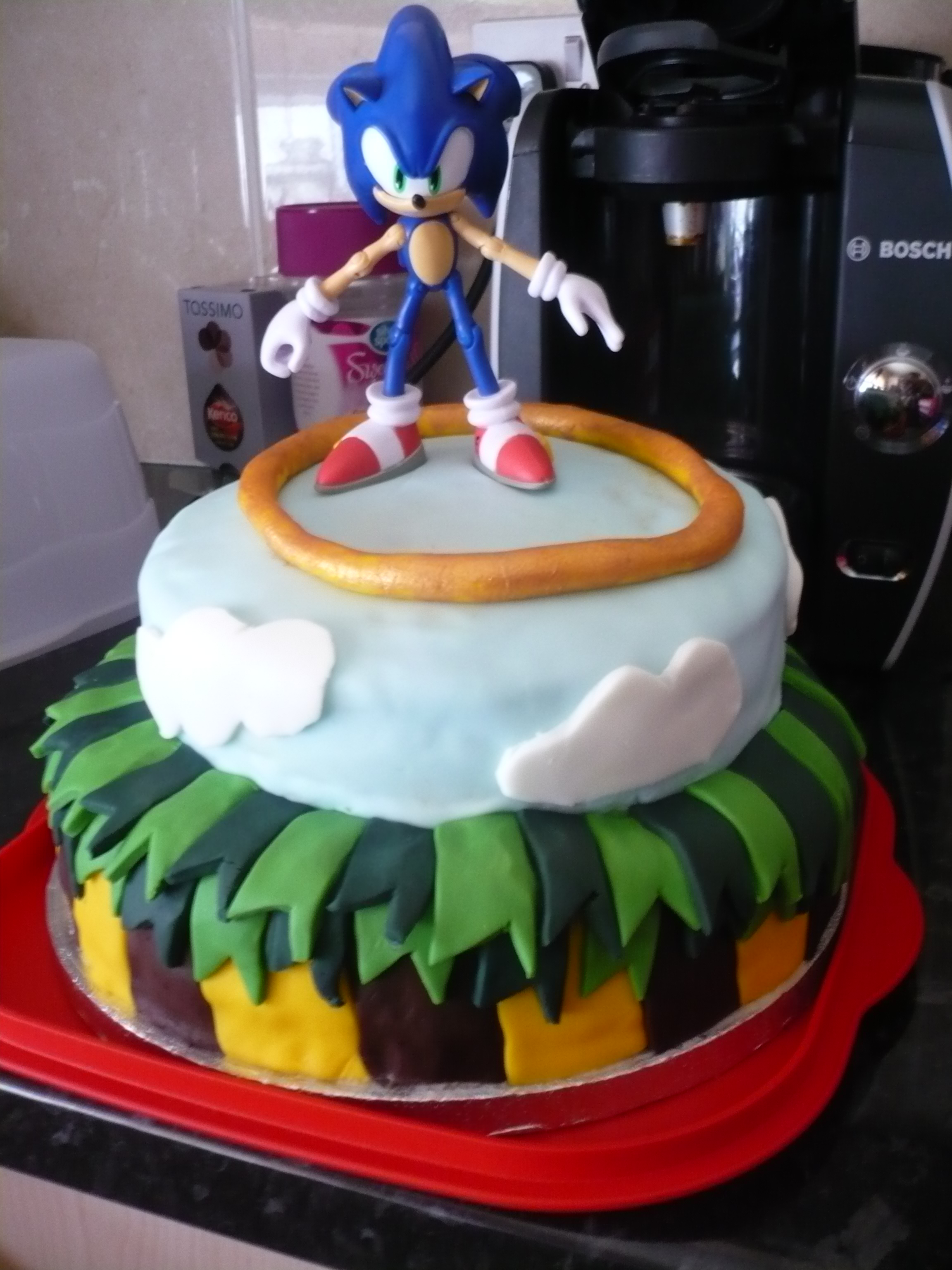 Sonic The Hedgehog Birthday Cake Cooking